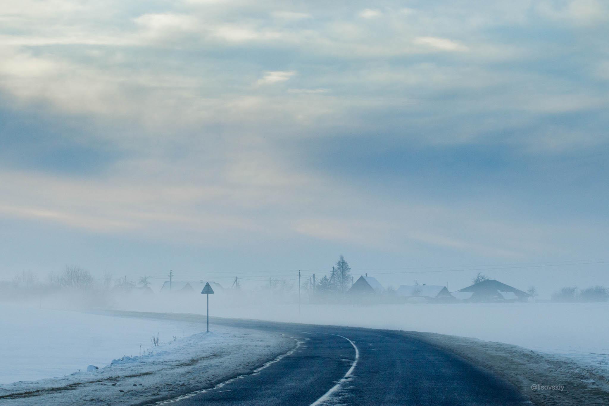 Зимняя дорога, Беларусь
