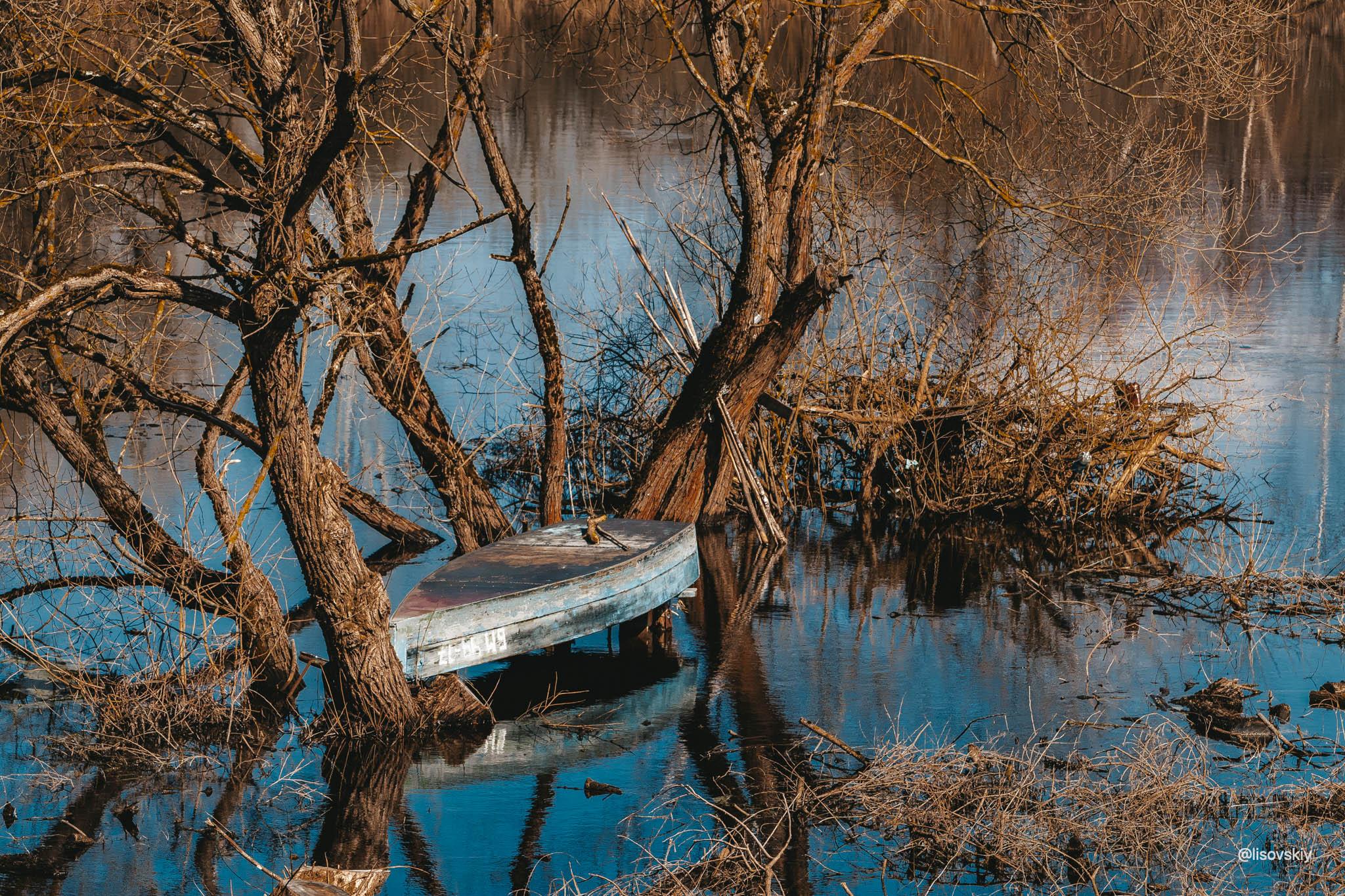 Река Березина, Беларусь. Весна 2021